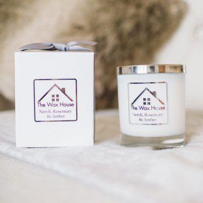 Luxury Natural Soy Wax Candle gift box neroli rosemary amber