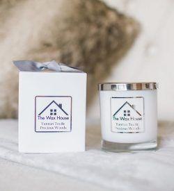natural soy wax candle gift box yunnan tea precious woods