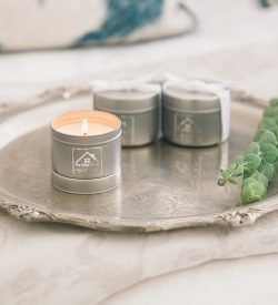 travel burning candle lime ylang ylang white rum