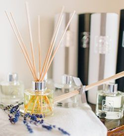 selection of reed diffusers dried lavender