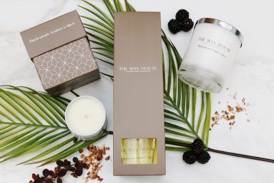 Blackcurrant Leather & Birch Home Fragrance Collection
