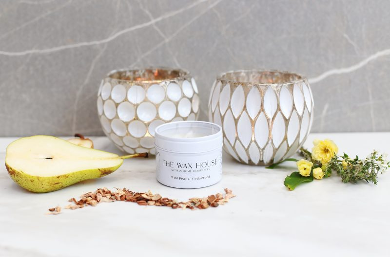 Wedding Scent Wild Pear & Cedarwood Natural Soy Travel Candle