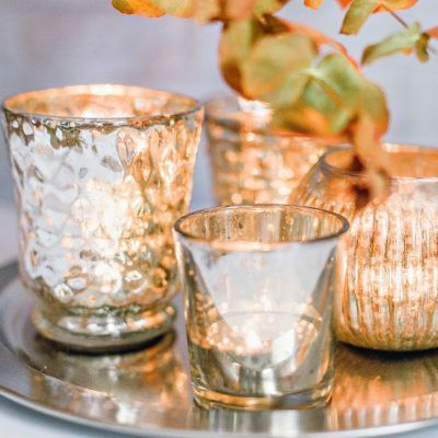 Vintage handcrafted tealight holders