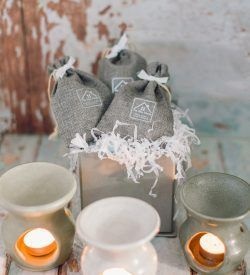 hand thrown pottery wax burner and wax melts