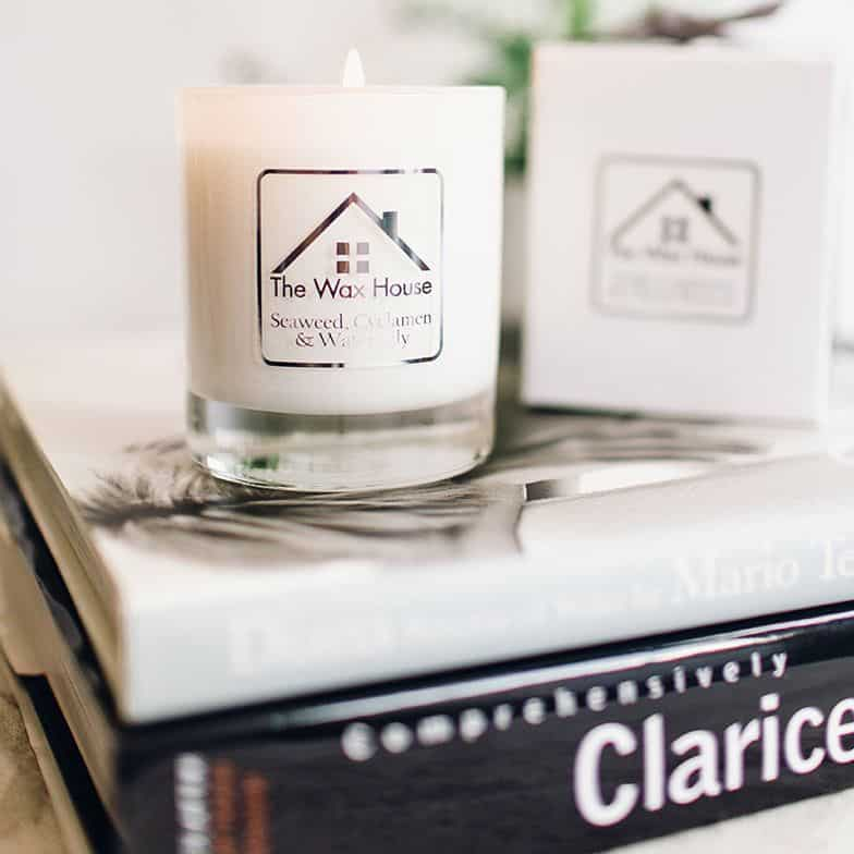 seaweed cyclamen and water lily scented candle