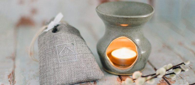 Dark Grey Hand Thrown Pottery Wax Burner