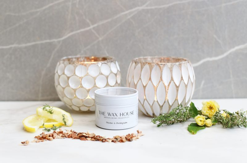 Summer Scent Thyme & Petitgrain Luxury Soy Travel Candle