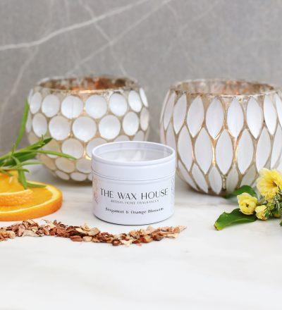 Bergamot & Orange Blosson Natural Soy Travel Candle