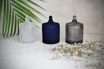 Art Deco Inspired Glass Container