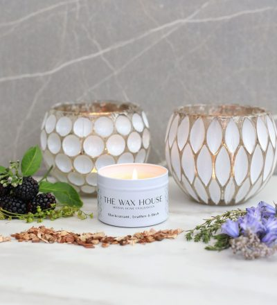 Blackcurrant Leather & Birch Travel Candle