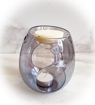 Smoke Grey Glass Wax Melt Burner